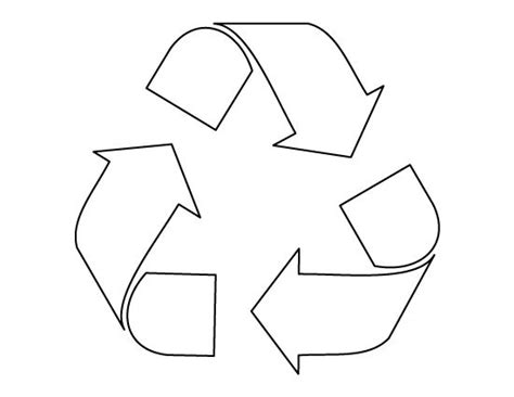 recycle symbol pattern use the printable outline for