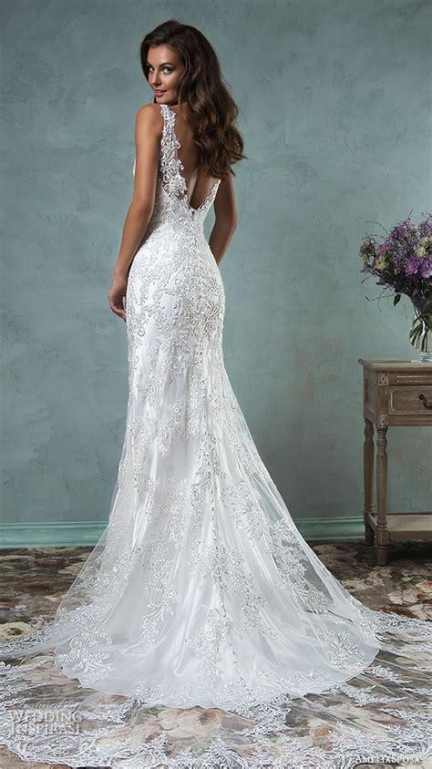 60 low back wedding dresses deer pearl flowers