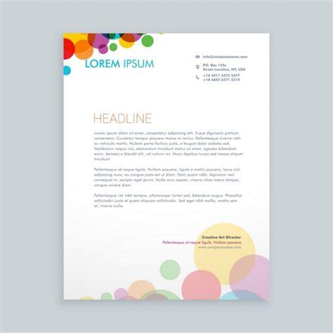 Briefpapier Design Vorlagen Kreative Bunte Kreise Briefpapier Design Der Kostenlosen Vektor