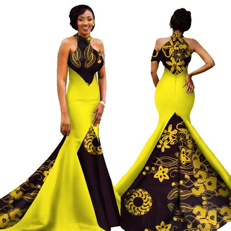 mermaid african dresses  arrival sleeveless floor