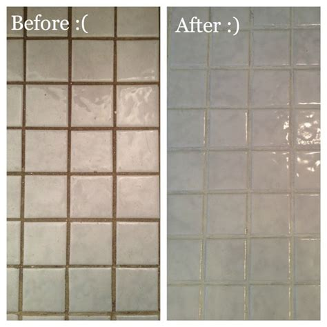 Bathroom Grout Discolored Grout Refresh I This Product Used It Lastnight To