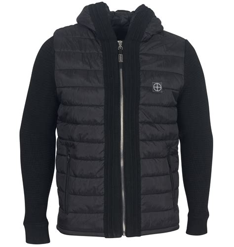 Gp Puffer Jacket Jacket Branded mens branded foray access hooded knitted sleeve puffer