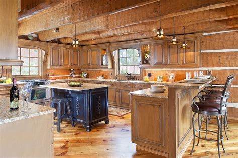 my home kitchen design today s log homes for advantageous and luxurious living