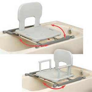 bath tub chair tub mounted swivel shower chair