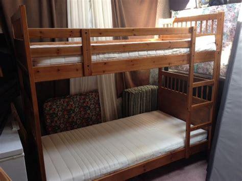 Hemnes Bunk Bed Ikea Hemnes Bunk Bed With Mattresses Saanich