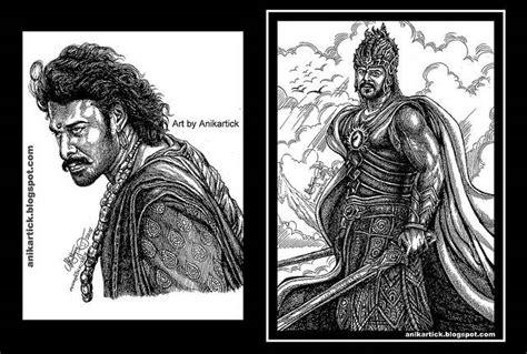 Bahubali 1 Sketches by Baahubali Indiatimes