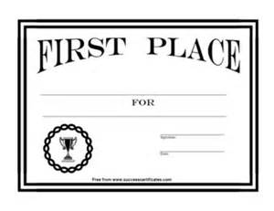 1st place certificate template certificate for 1st place award 7 success certificates