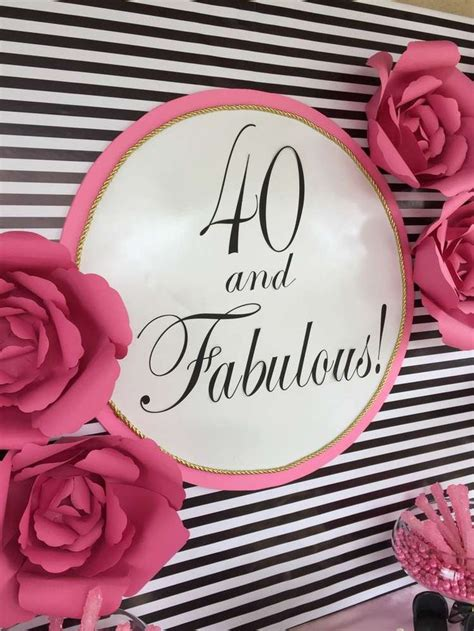 Fabulous At 40 Decorations by 25 Best Fashion Birthday Ideas On