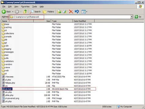 tutorial yii xp image tutorial how to setup yii framework on wamp using