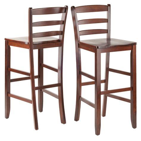 High Back Bar Stools Walmart by Parkland 3 High Dining Set With Ladder Back Stools