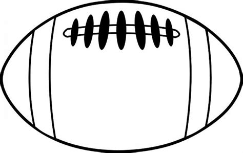 football outline template png football outline clip clipart free png