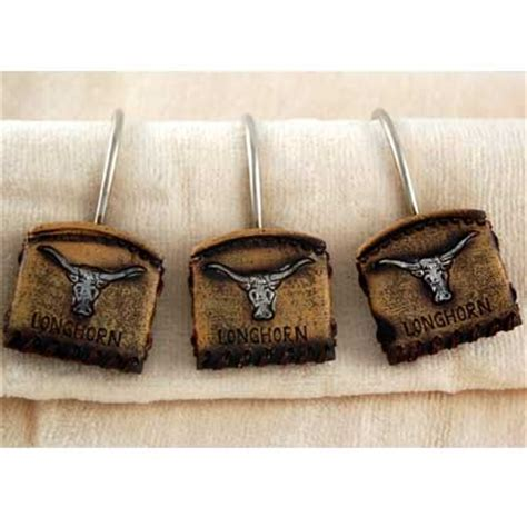 western shower curtain hooks longhorn shower curtain hooks western theme rings