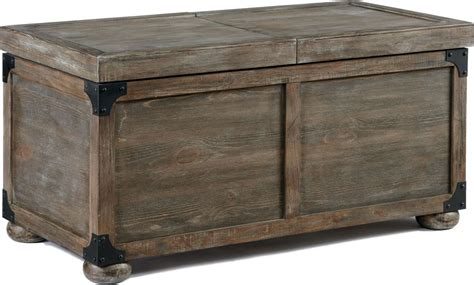 coffee storage tables rustic trunk coffee table storage
