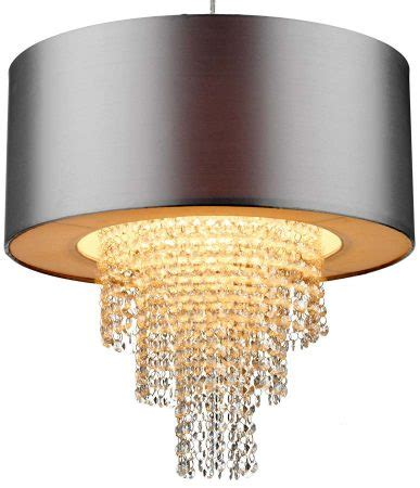 Silver Ceiling L Shades by Dar Silver Ceiling Pendant L Shade With Drops Lop6532