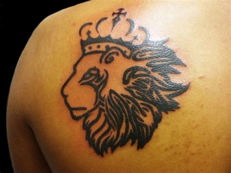 lion with a crown tattoo 30 designs for