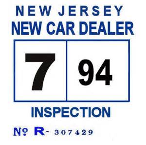 car inspection new jersey 1994 nj new car dealer inspection sticker 1971 new jersey