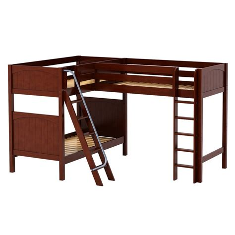 corner bunk bed trio corner loft panel bunk bed rosenberryrooms com