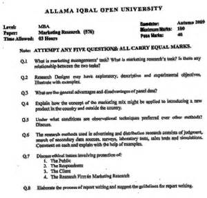 Why Mba In Marketing Essay by Aiou Mba Marketing Research 576 Past Paper Last 5 Year