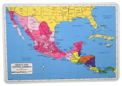 map of mexico central america mexico central america placemat 032685 details rainbow