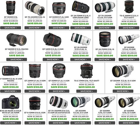 up to 1 000 price drop on canon lenses coming tomorrow