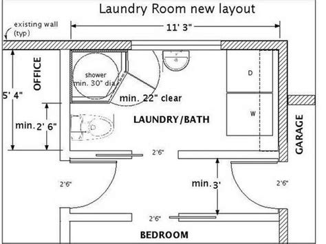 laundry area layout bathroom layouts with laundry best design for your home