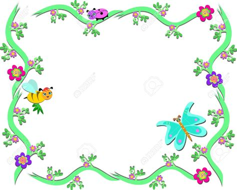 border design editor frame clipart butterfly pencil and in color frame