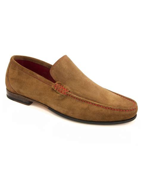 loake suede loafers nicholson contrast stitch suede loafer fields menswear