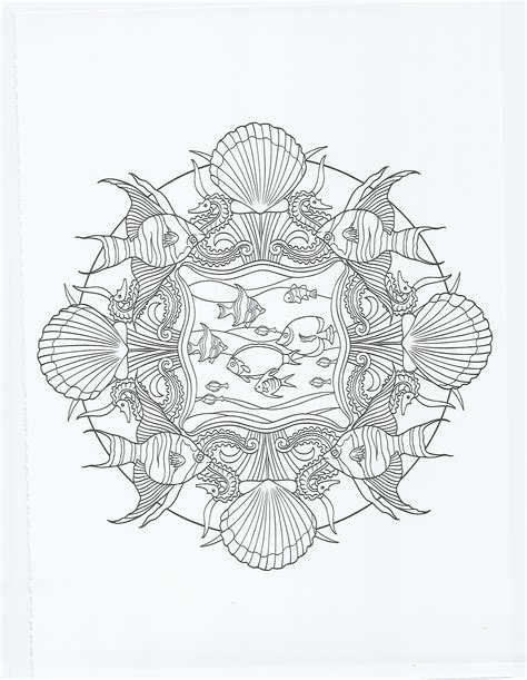 fish mandala coloring page animal mandala fish and seahorse coloring pages