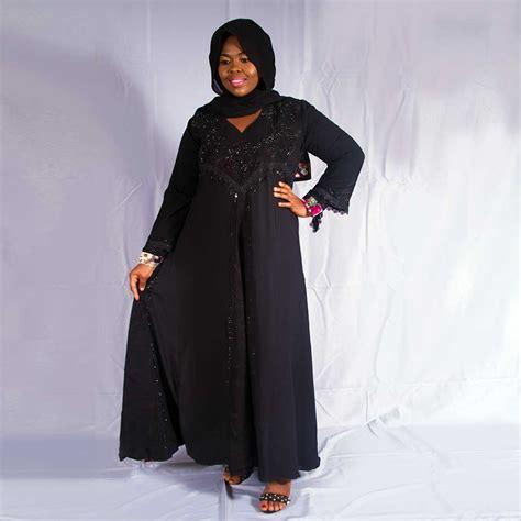 Adeeva Dress adeeva black abaya with floral designs habeebat