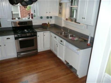 white cabinets concrete countertops for the home