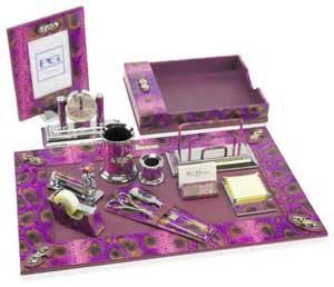Pink Desk Accessories Premier Desk Set Collection Python Pink Transitional Desk Accessories By Paolo Guzzetta