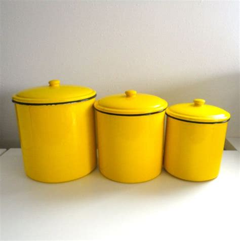 yellow kitchen canisters kitchen canisters yellow enamel canister storage for flour