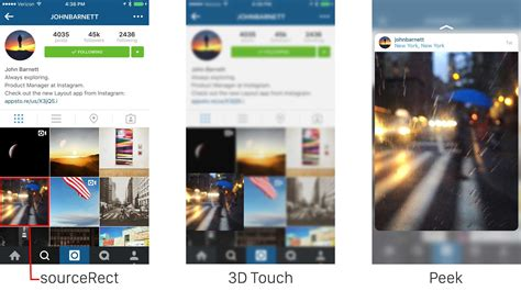 instagram layout code how instagram made 3d touch pop on iphone 6s cult of mac