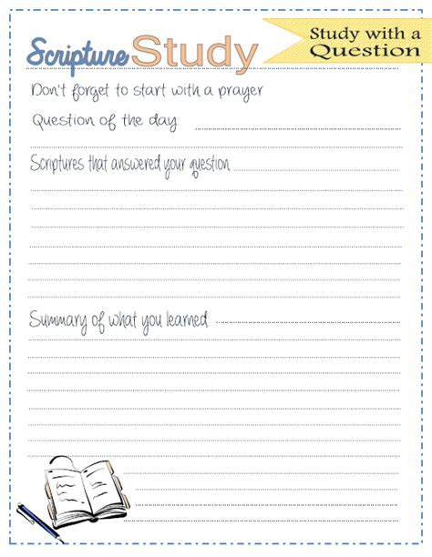 scripture journal templates one willis family scripture study journal printables