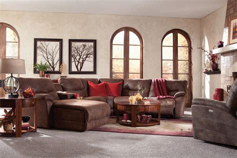 lazy boy dawson sectional casual six piece reclining sectional sofa with las chaise