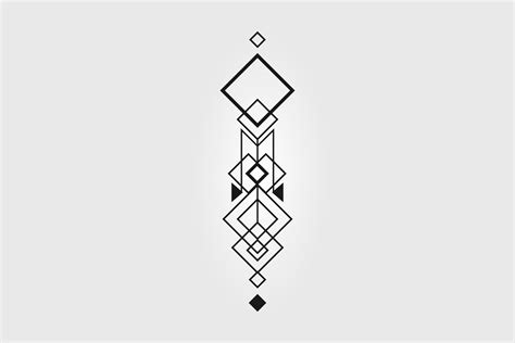 vector abstract minimalism geometry tattoo