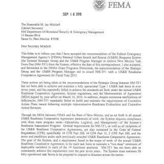 Appeal Letter Sle To Fema Fema Dumps New Mexico Search And Rescue Krqe News 13