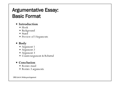 Argumentative Essay Sle Outline by Argumentative Essay Template