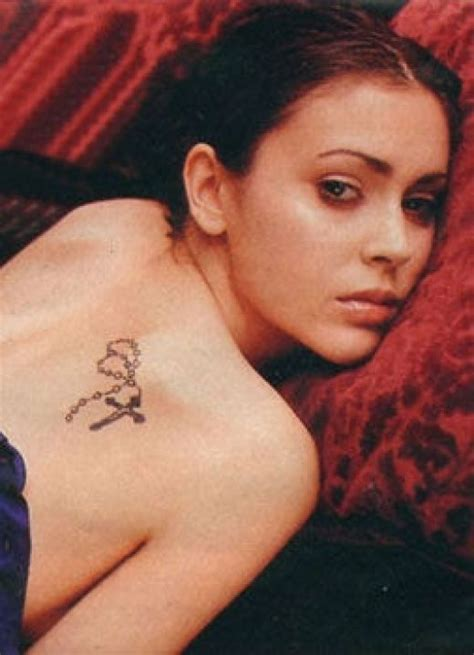 Alyssa Milano Tattoos Tattoo Collections | alyssa milano tattoos
