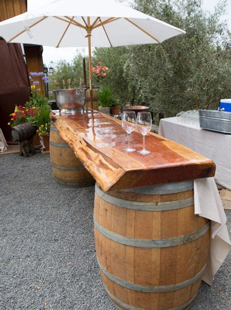 wine barrel garden ideas diy outdoor bar ideas using wine barrels garden decor
