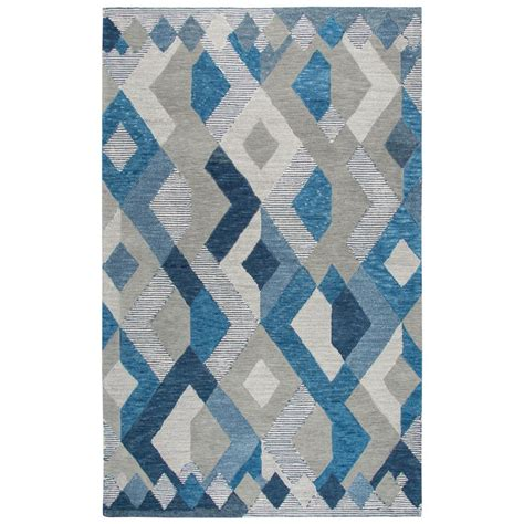 10 X 13 Multicolor Area Rugs - rizzy home idyllic blue multicolor geometric 10 ft x 13