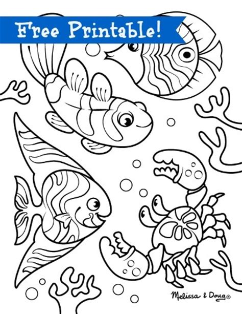 free coloring pages of underwater animals