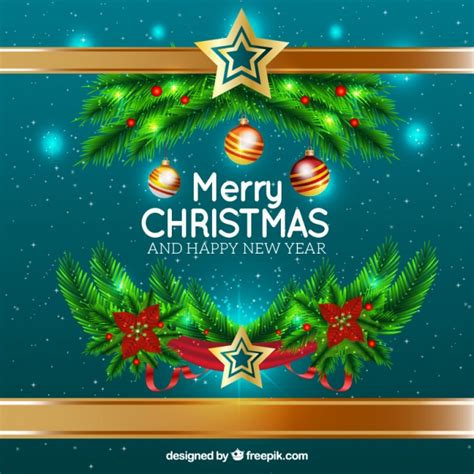 new year ornament vector free merry and new year background with ornaments