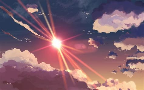 anime desktop wallpaper tumblr tumblr sun sky clouds anime wallpaper anime