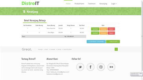Membuat Web Penjualan Baju Dengan Php | web e commerce sederhana penjualan baju kaos distro