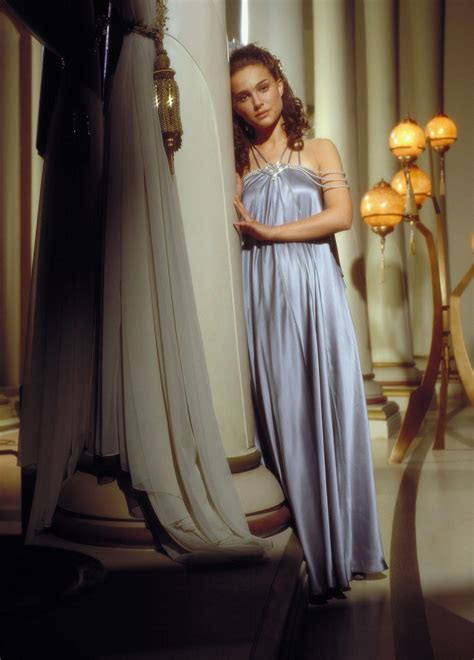 wearing tons to bed padme amidala lavender steel blue nightgown episode iii