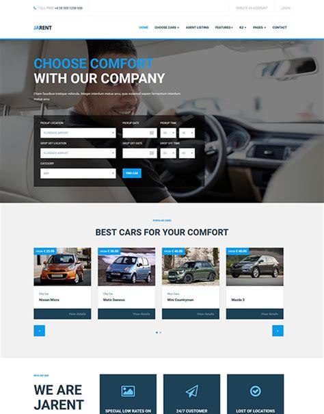 Ja Rent Responsive Joomla Template For Vehicle Rental Service Joomla Templates And Rental Website Templates