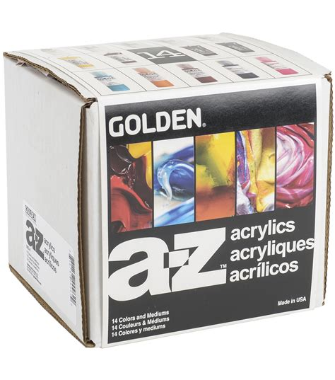 acrylic paint golden golden heavy acrylic paint a z starter set joann
