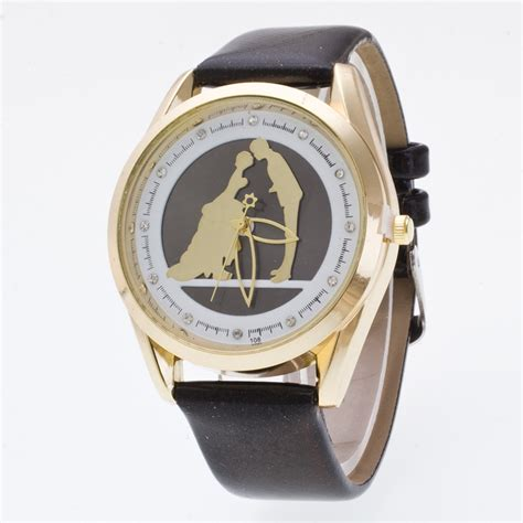 wedding watches luxury gold wedding pu leather quartz wrist