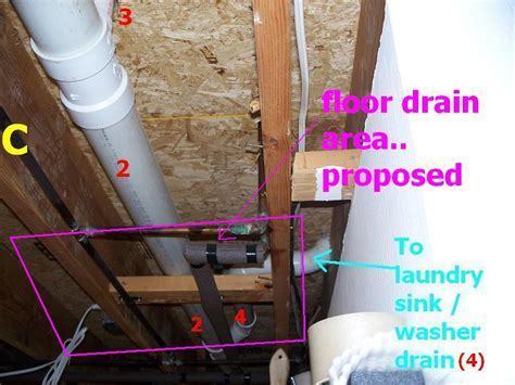 First Floor Laundry Room Floor Drain Install?   Plumbing